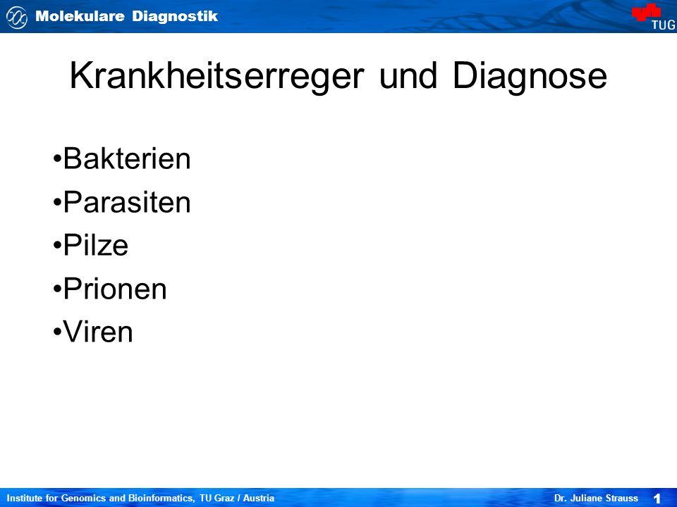 Krankheitserreger und Diagnose