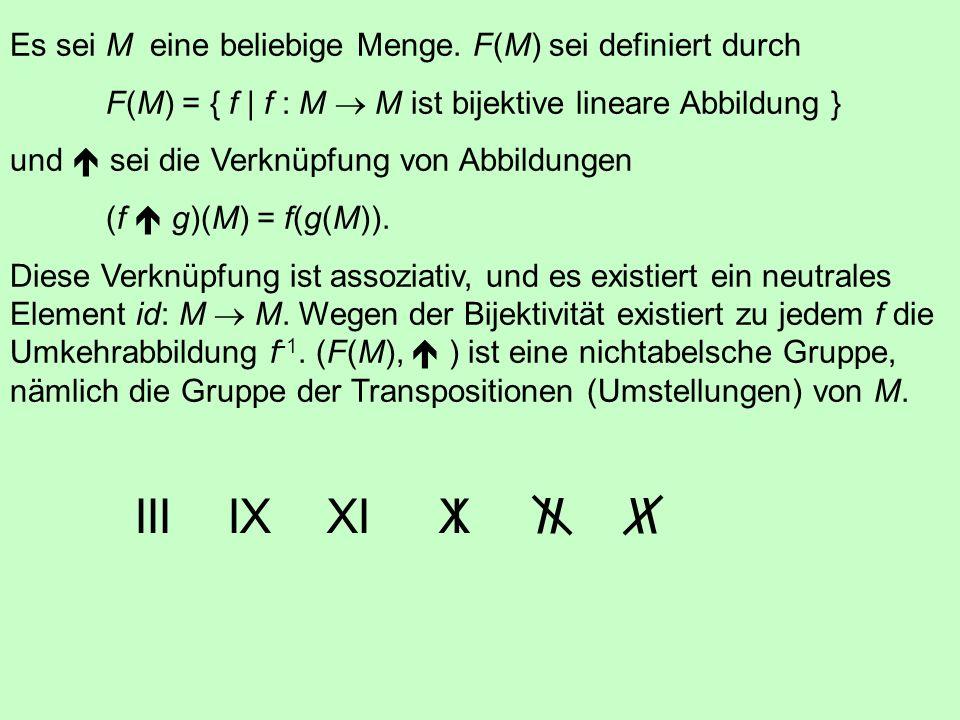 Es sei M eine beliebige Menge. F(M) sei definiert durch