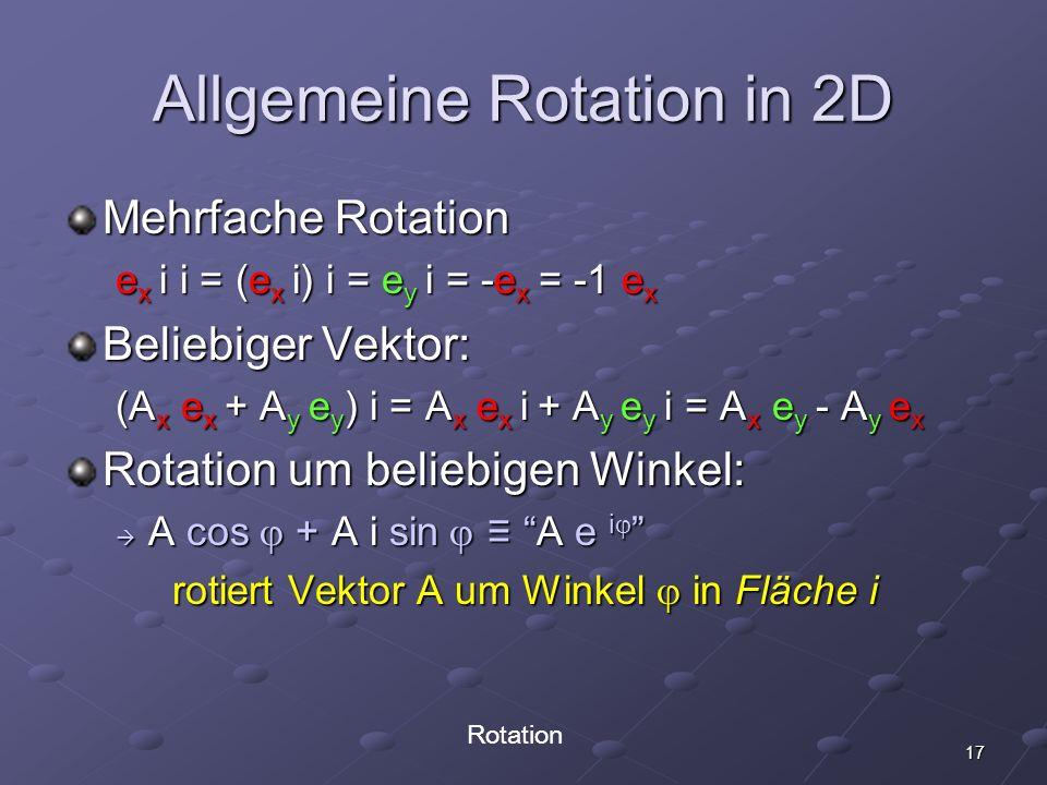 Allgemeine Rotation in 2D