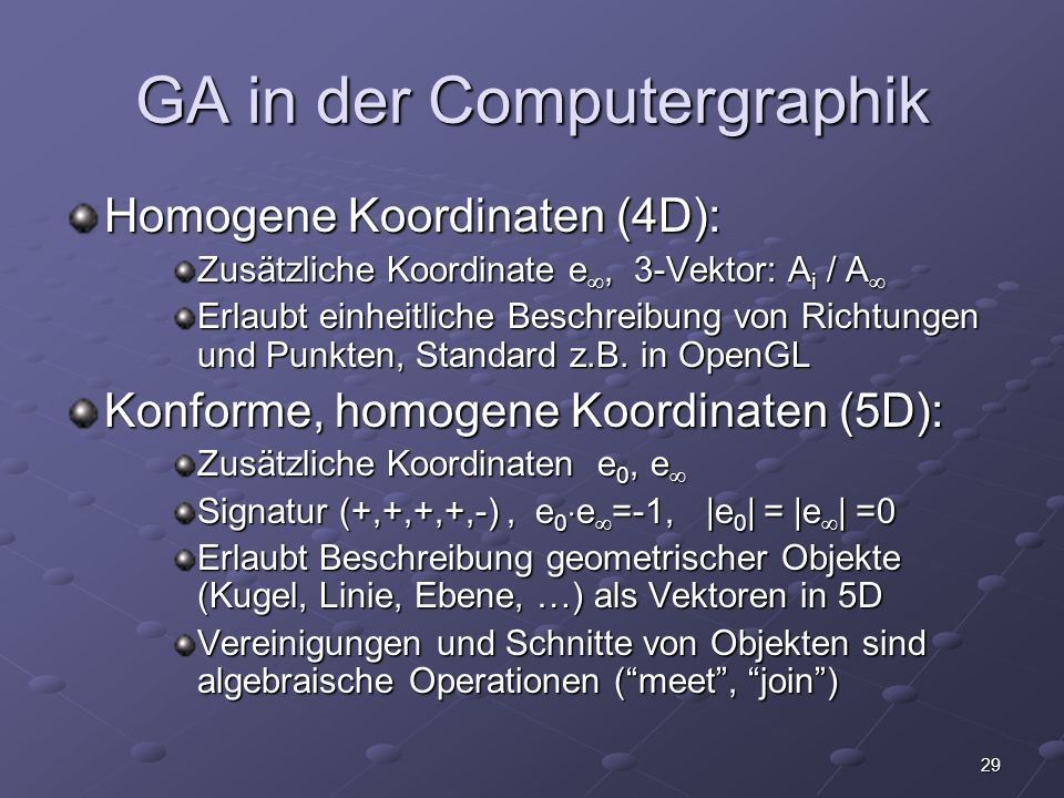 GA in der Computergraphik