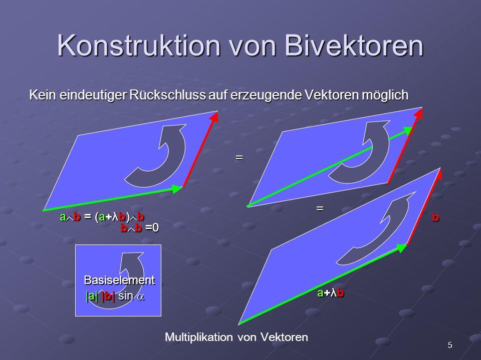 Konstruktion von Bivektoren
