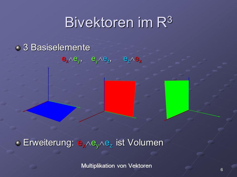 Multiplikation von Vektoren