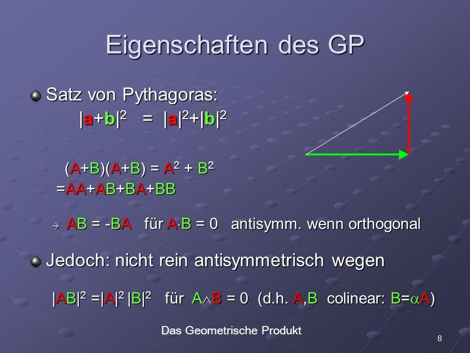 Das Geometrische Produkt