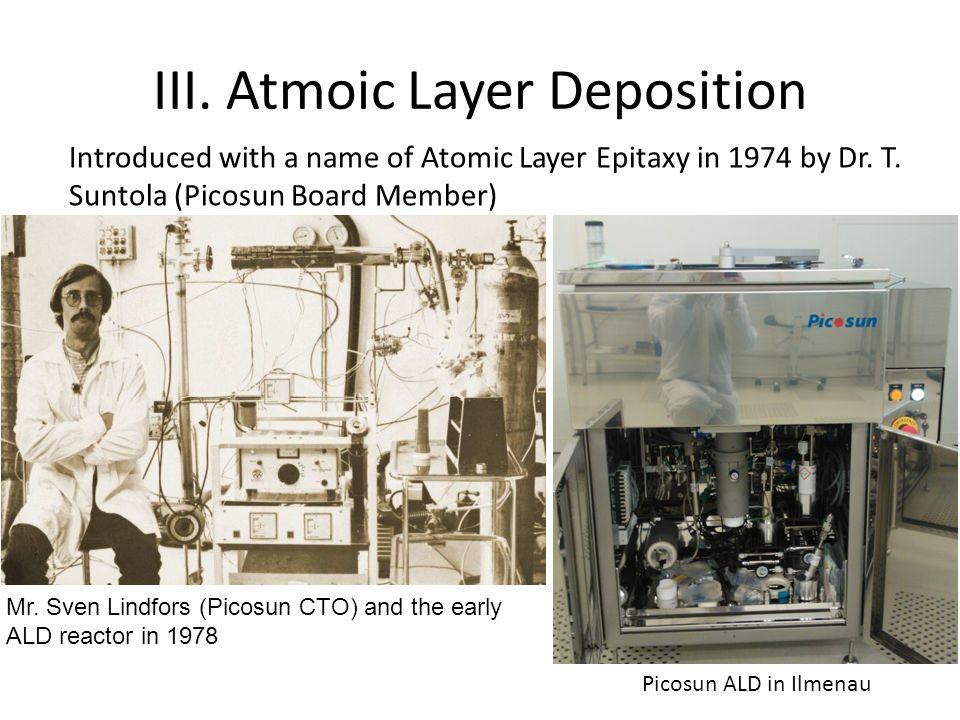 III. Atmoic Layer Deposition
