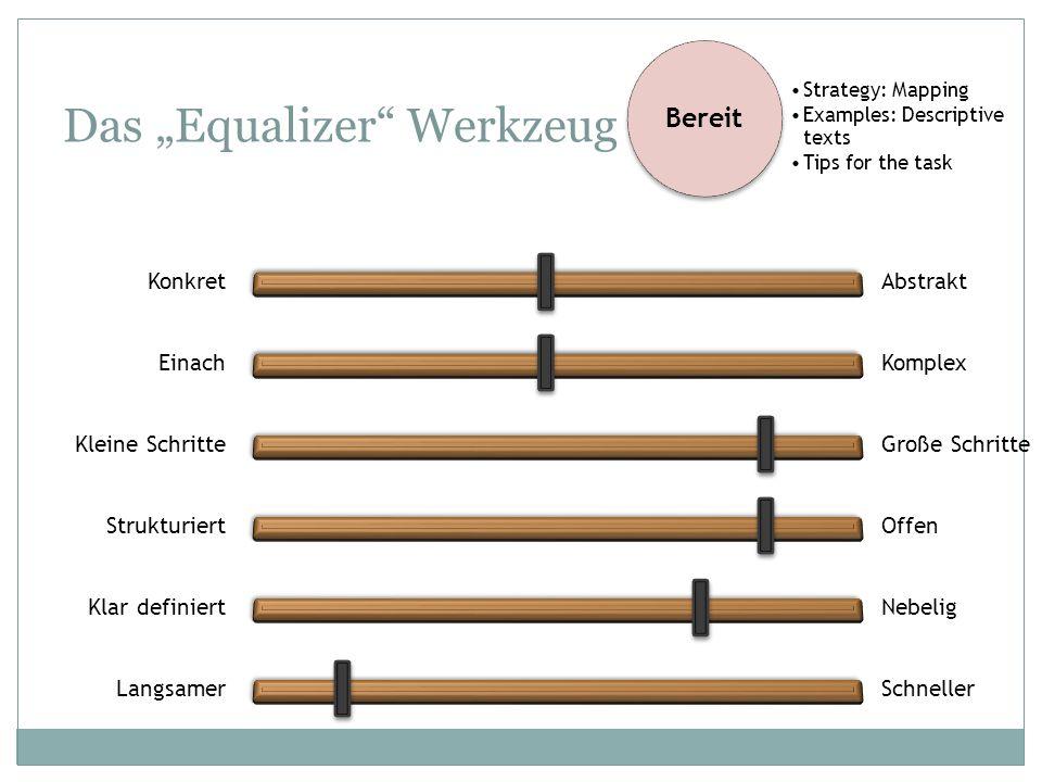 "Das ""Equalizer Werkzeug"