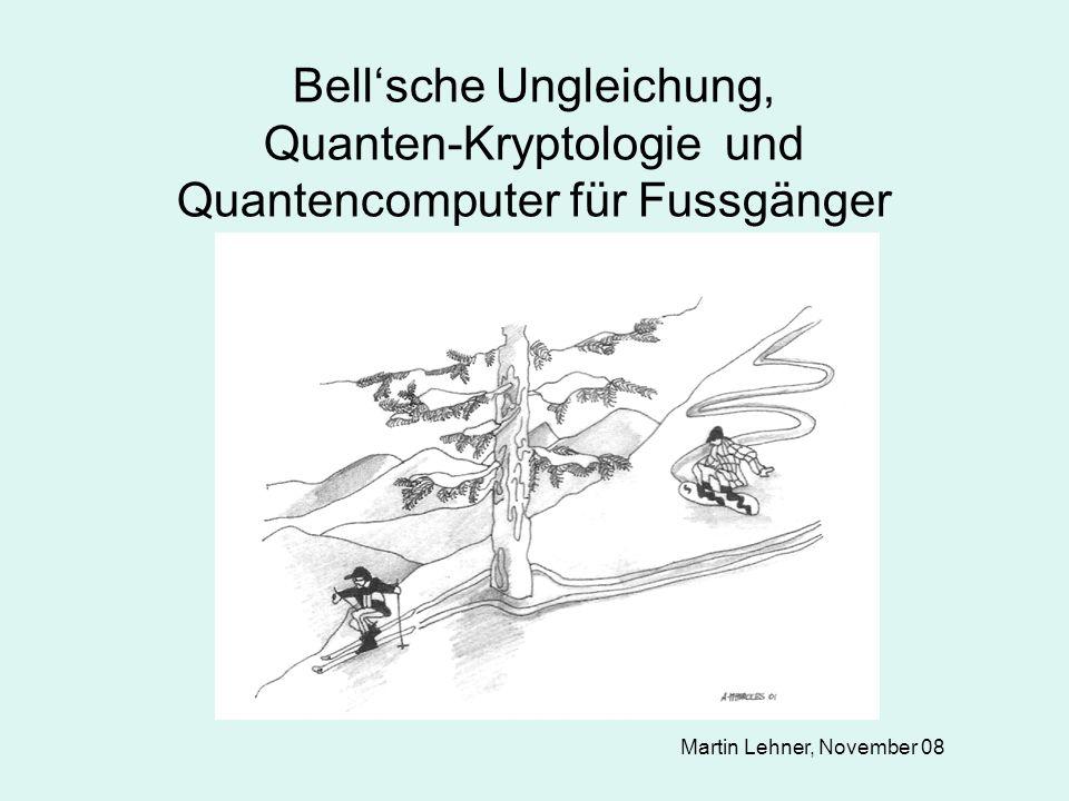 Bell'sche Ungleichung, Quanten-Kryptologie und Quantencomputer für Fussgänger