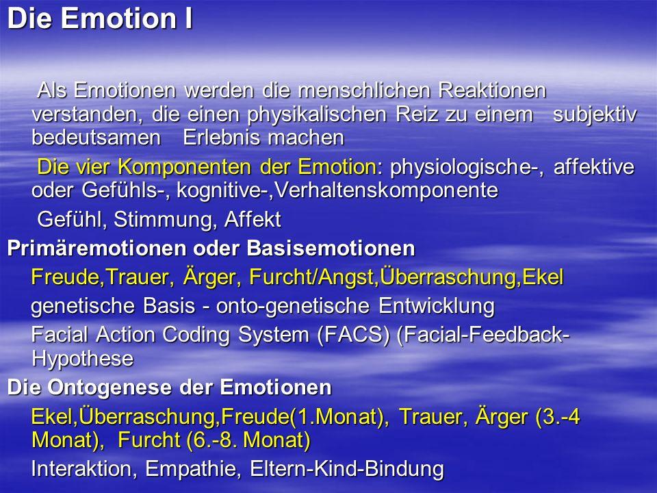 Die Emotion I