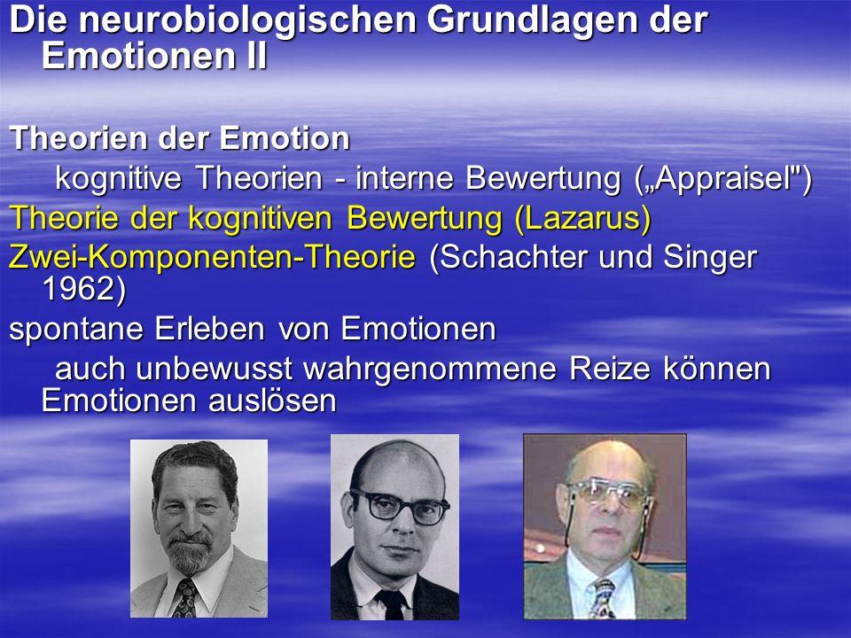Die neurobiologischen Grundlagen der Emotionen II