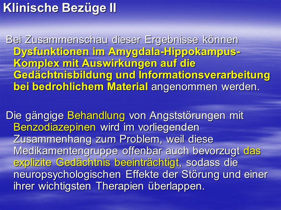 Klinische Bezüge II