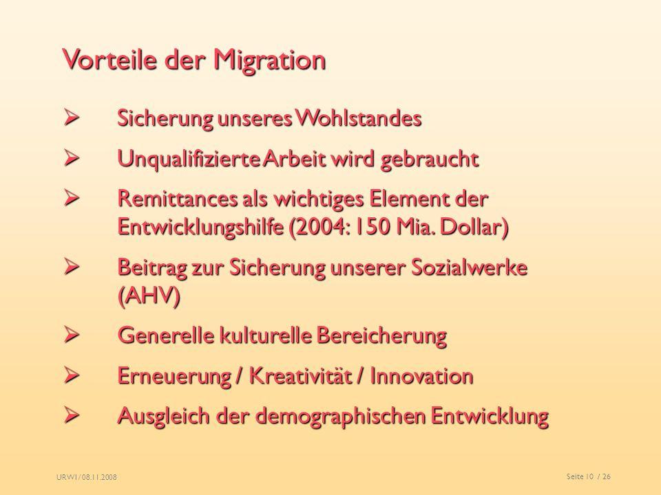 Vorteile der Migration