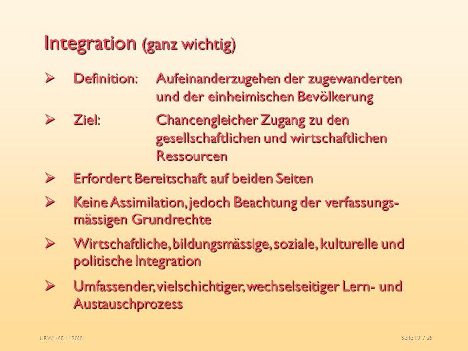 Integration (ganz wichtig)