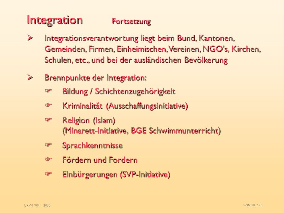Integration Fortsetzung