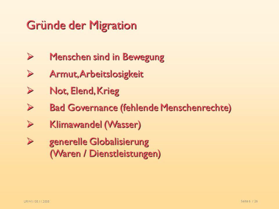 Gründe der Migration Menschen sind in Bewegung Armut, Arbeitslosigkeit