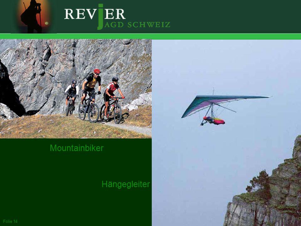 Mountainbiker Hängegleiter bis zum Mountainbiker und Hängegleiter