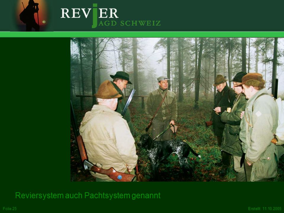 Reviersystem auch Pachtsystem genannt