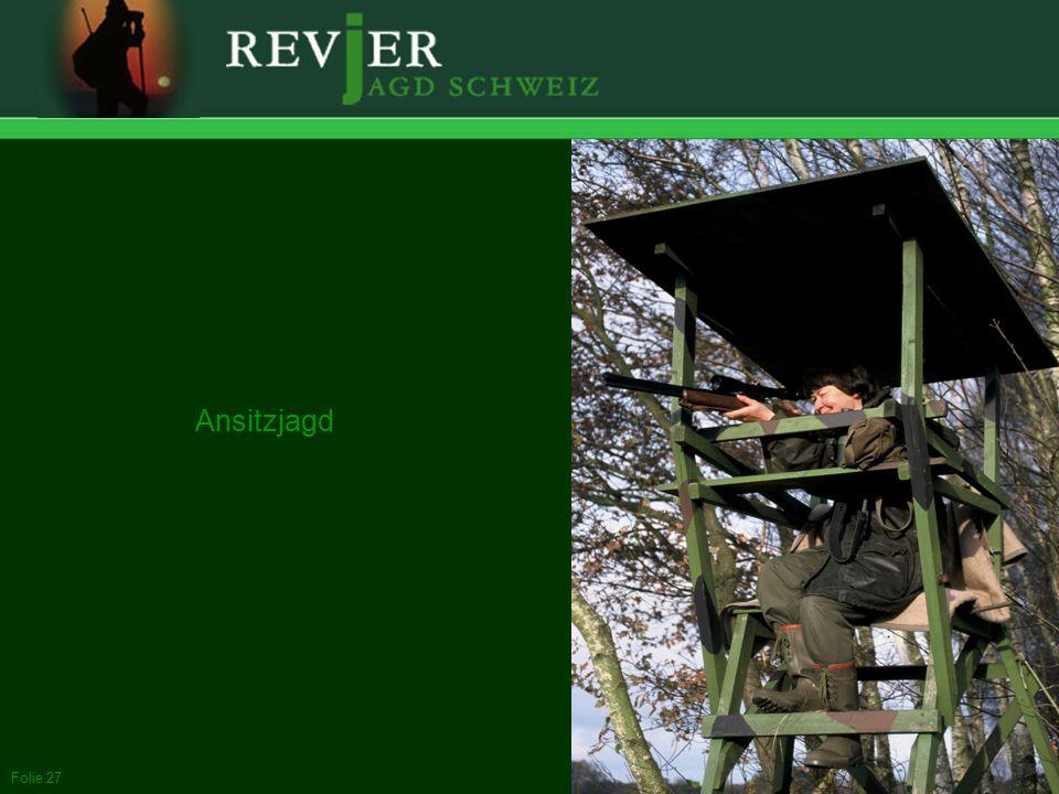 Ansitzjagd Jagdarten. In der Schweiz sind drei Jagdarten verbreitet: Ansitz, Pirsch und Bewegungsjagd.