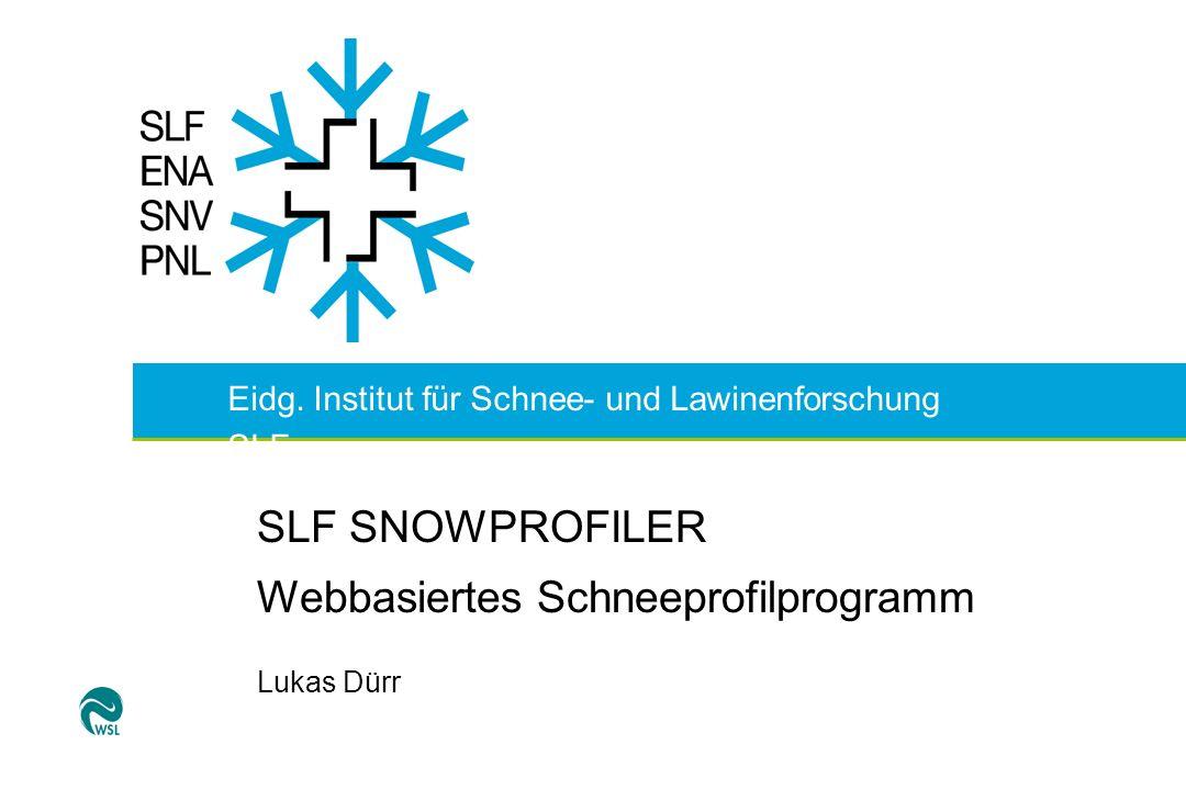 Webbasiertes Schneeprofilprogramm