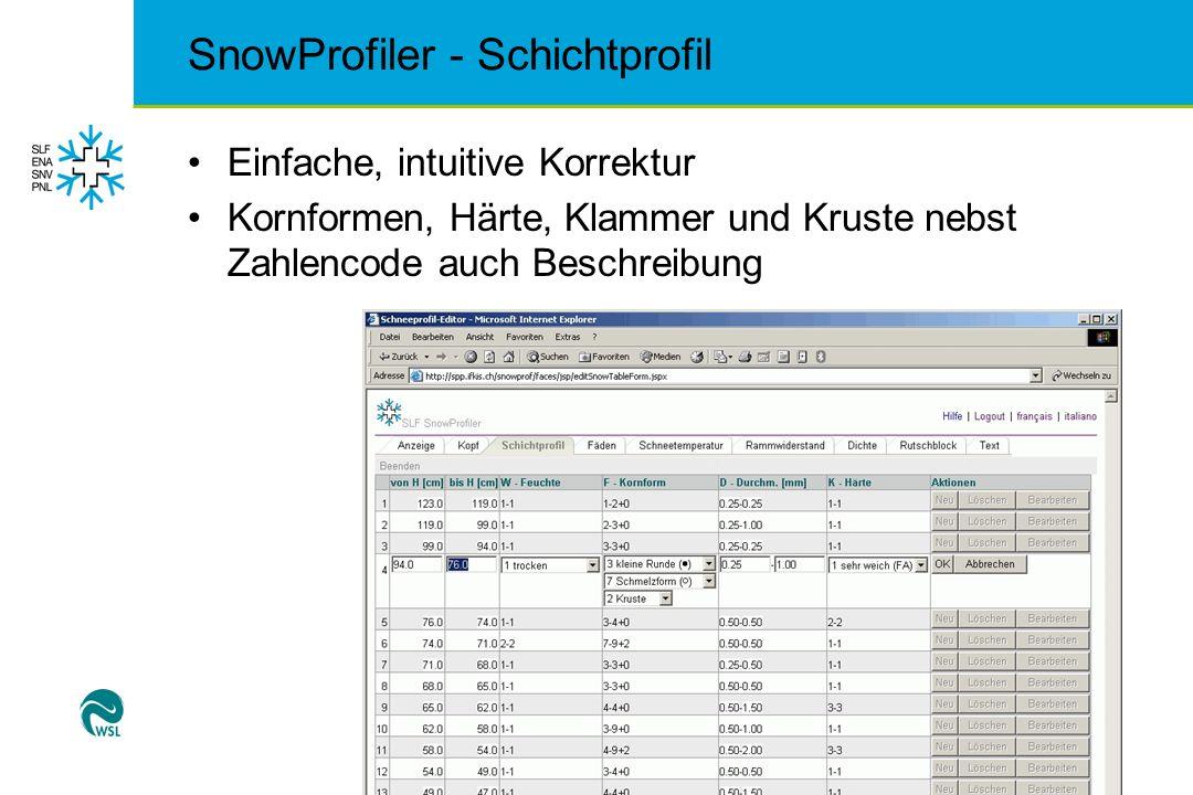 SnowProfiler - Schichtprofil