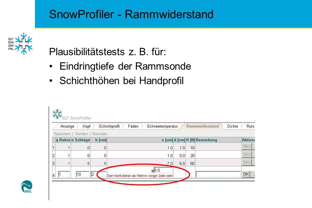 SnowProfiler - Rammwiderstand