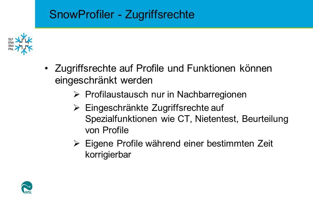 SnowProfiler - Zugriffsrechte