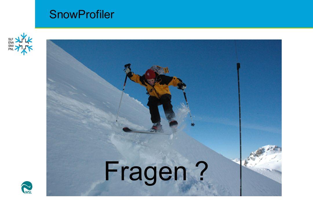 SnowProfiler Fragen