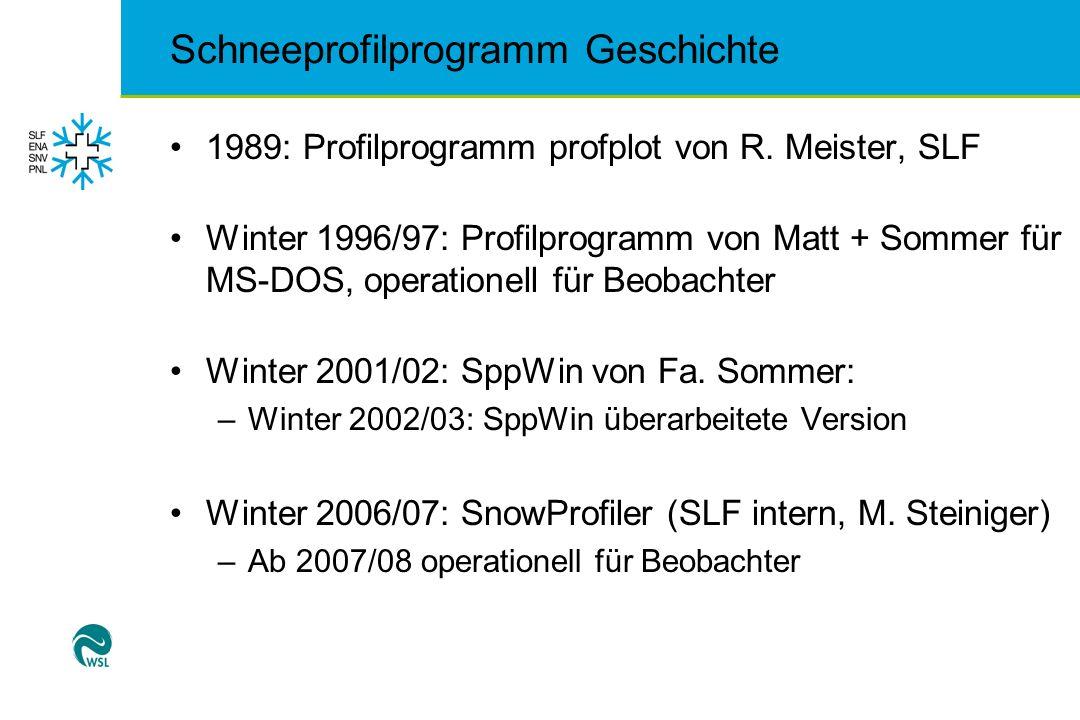 Schneeprofilprogramm Geschichte