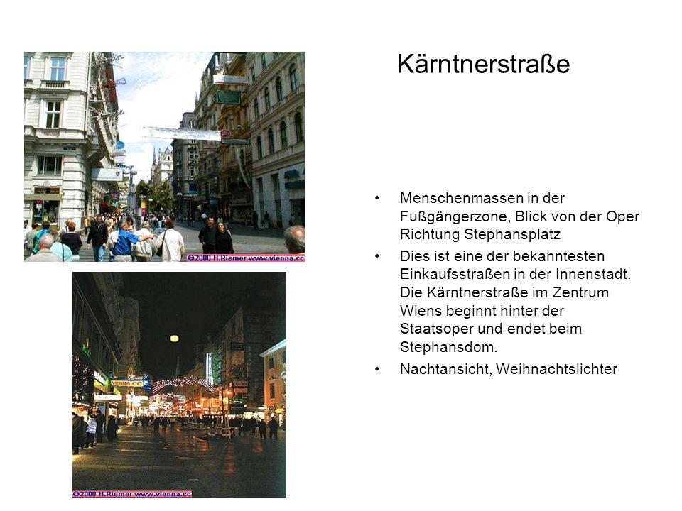Kärntnerstraße Menschenmassen in der Fußgängerzone, Blick von der Oper Richtung Stephansplatz.