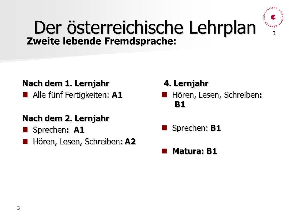 Der österreichische Lehrplan