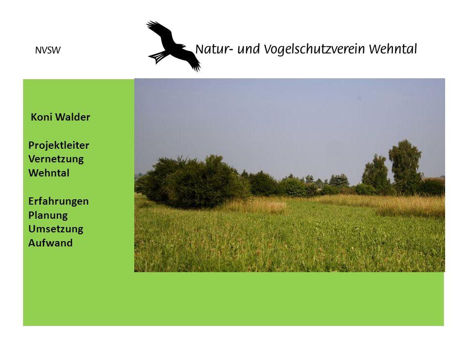 Koni Walder Projektleiter Vernetzung Wehntal Erfahrungen Planung Umsetzung Aufwand