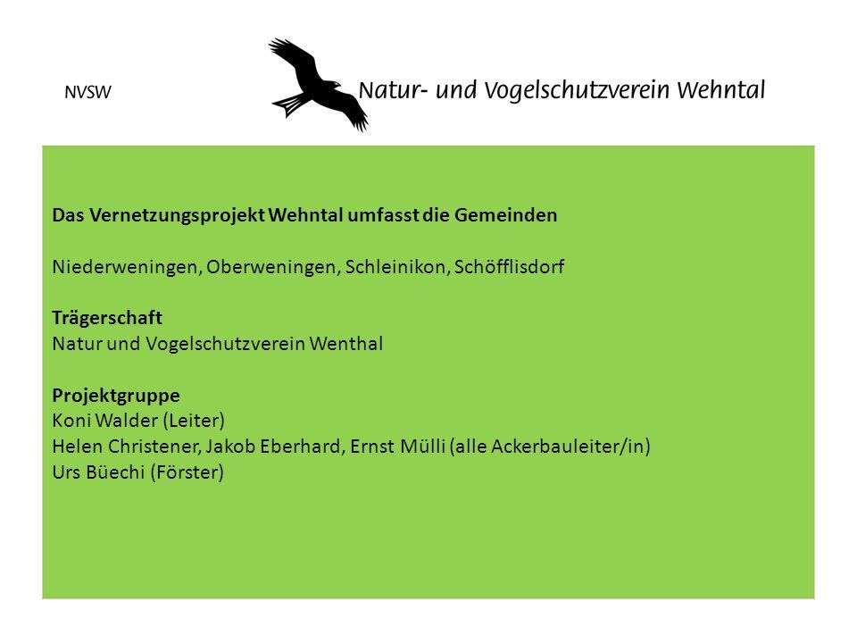 Das Vernetzungsprojekt Wehntal umfasst die Gemeinden