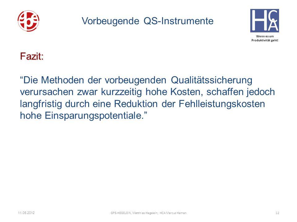Vorbeugende QS-Instrumente
