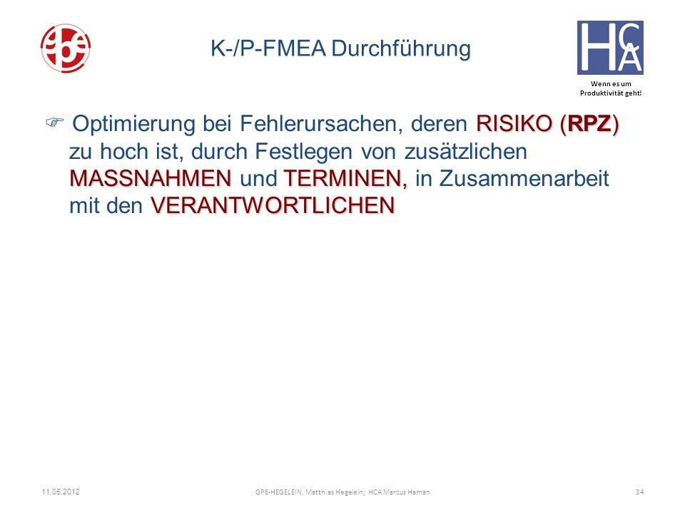 K-/P-FMEA Durchführung