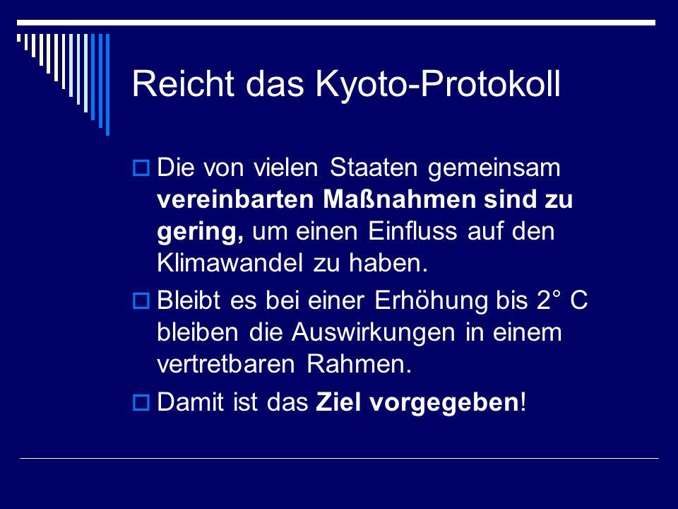Reicht das Kyoto-Protokoll