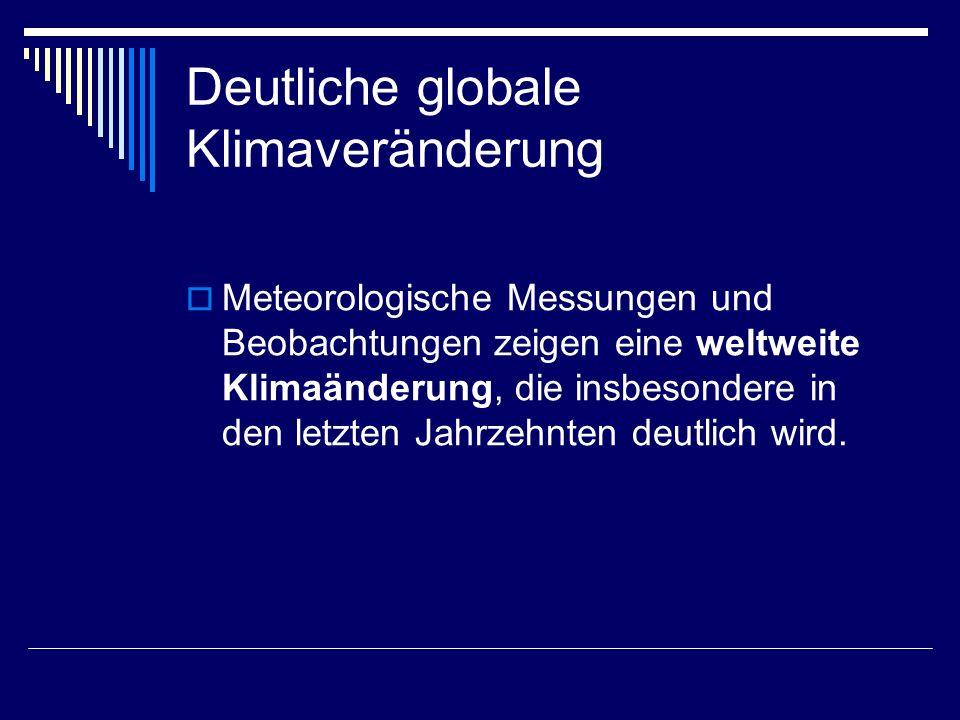 Deutliche globale Klimaveränderung