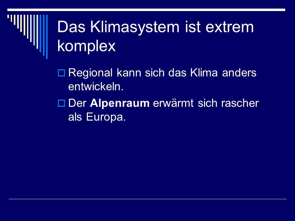 Das Klimasystem ist extrem komplex