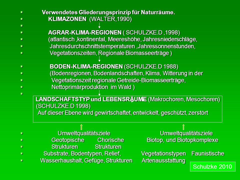 Schulzke 2010 Verwendetes Gliederungsprinzip für Naturräume.