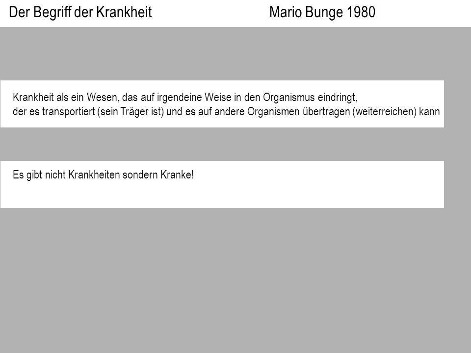 Der Begriff der Krankheit Mario Bunge 1980