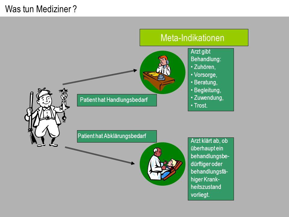 Was tun Mediziner Meta-Indikationen Arzt gibt Behandlung: Zuhören,