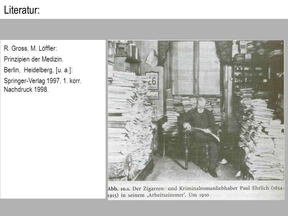 Literatur: R. Gross, M. Löffler: Prinzipien der Medizin.