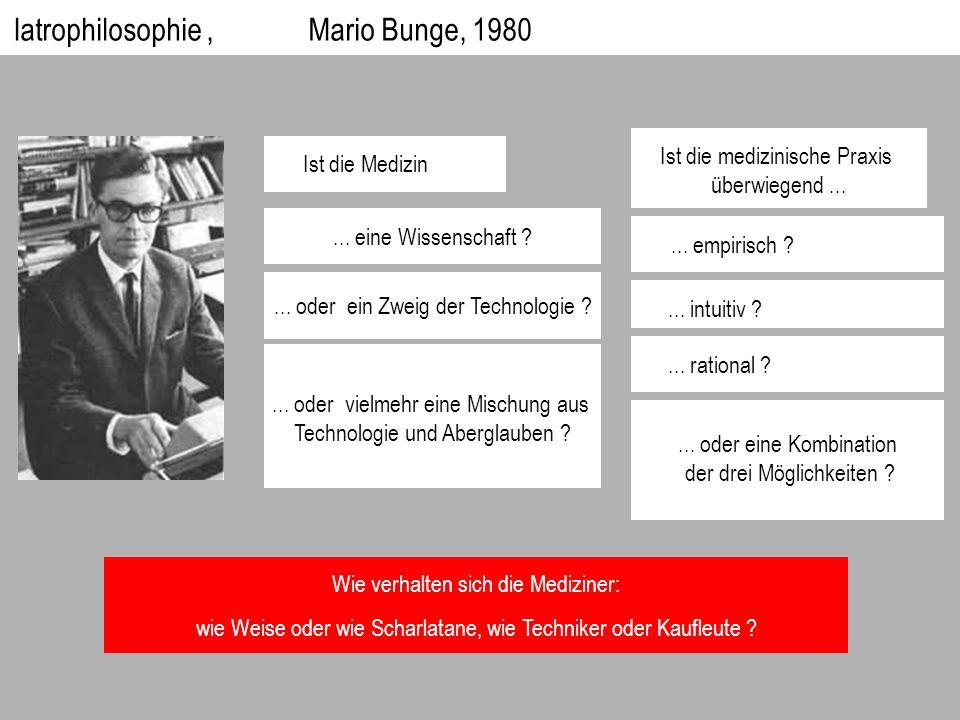 Iatrophilosophie , Mario Bunge, 1980