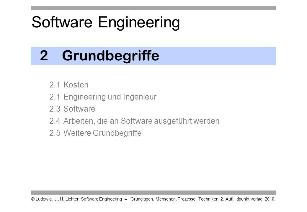 2 Grundbegriffe 2.1 Kosten 2.1 Engineering und Ingenieur 2.3 Software 2.4 Arbeiten, die an Software ausgeführt werden 2.5 Weitere Grundbegriffe