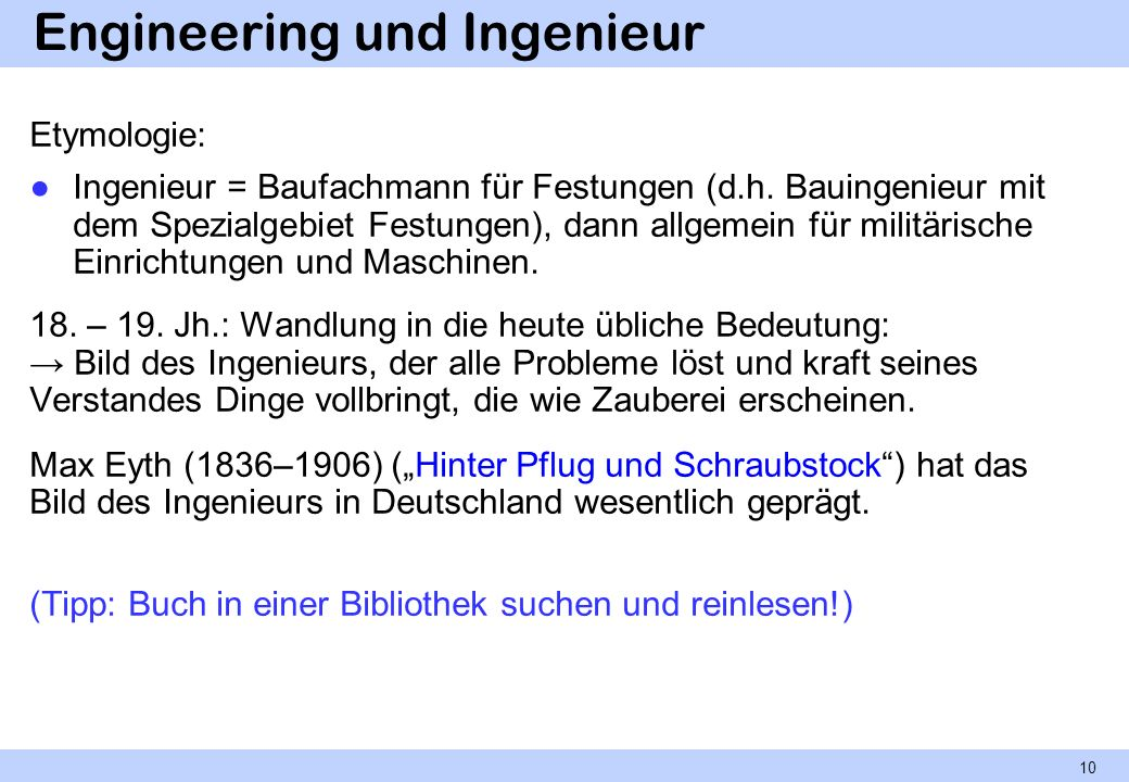 Engineering und Ingenieur