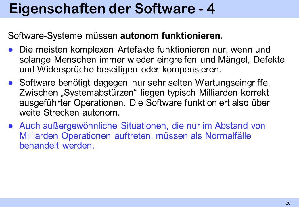 Eigenschaften der Software - 4