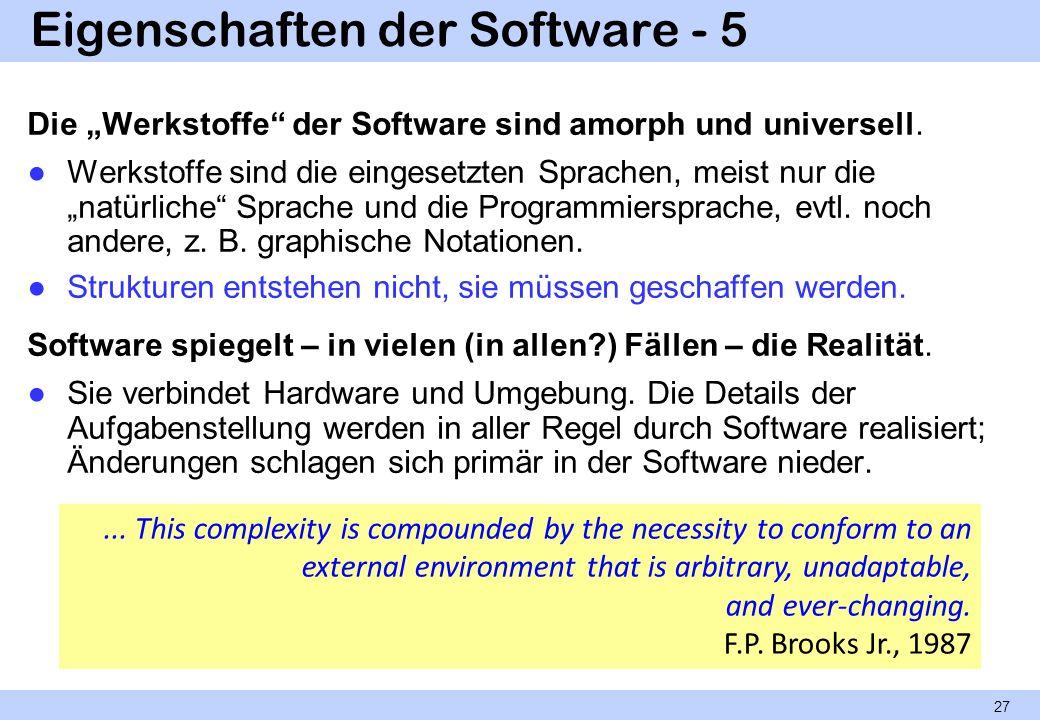 Eigenschaften der Software - 5