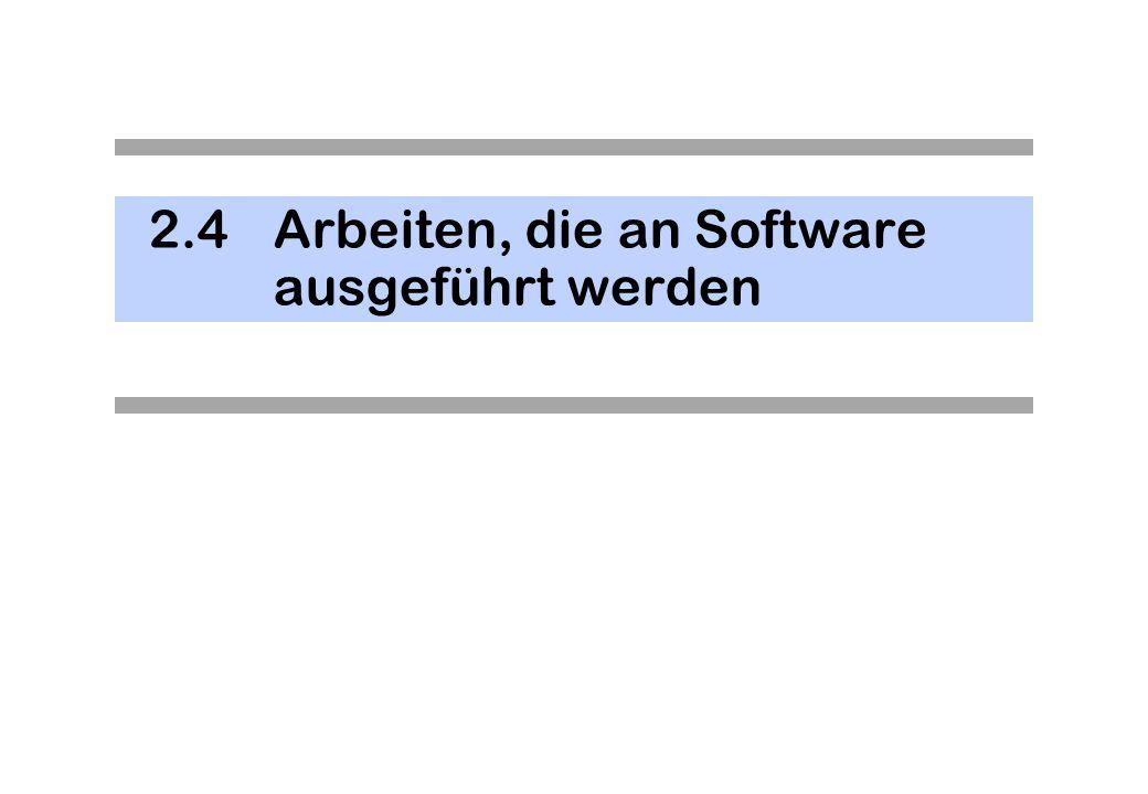 2.4 Arbeiten, die an Software ausgeführt werden