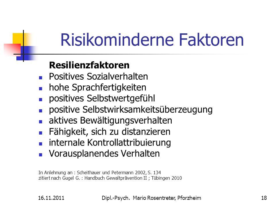 Risikominderne Faktoren