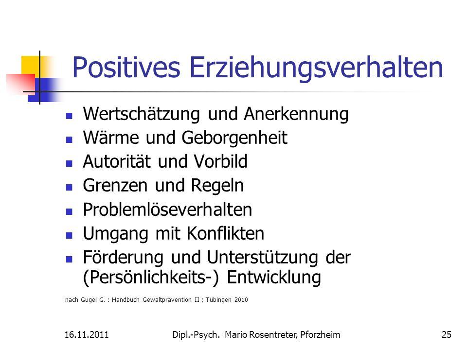 Positives Erziehungsverhalten