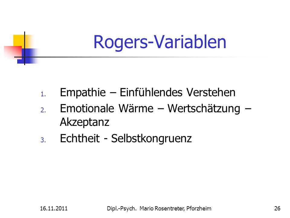 Rogers-Variablen Empathie – Einfühlendes Verstehen