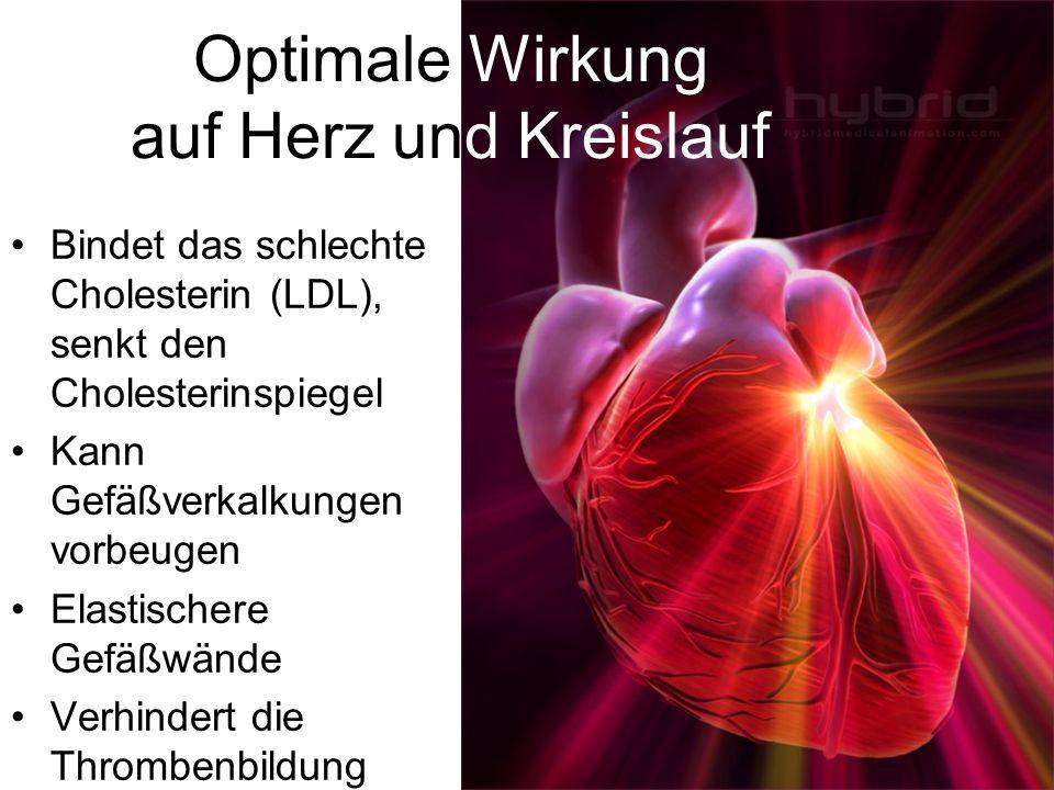 Optimale Wirkung auf Herz und Kreislauf