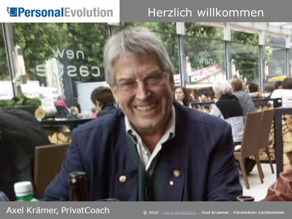 Herzlich willkommen Axel Krämer, PrivatCoach